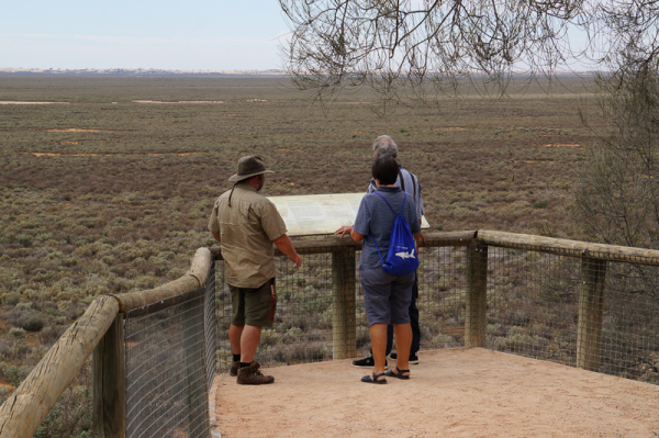 Mungo Lookout - Great views of Lake Mungo and the Walls.